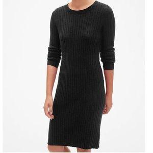 NWT Gap Sweater Dress XSP Black v372